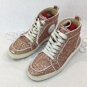 timeless design 42e00 70c93 Women Glitter Louboutin Sneakers on Poshmark